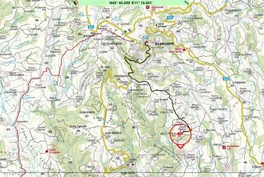Area map around Podere Nova